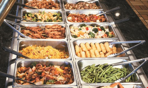 Product image for China Buffet 10% Off total food bill up to 10 people OR free drink with any buffet purchase, up to 10 people