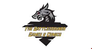 The Battlegrounds Games & Comics logo