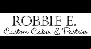 Robbie E.  Custom Cakes and Pastries logo