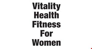 Vitality Health & Fitness for Women logo