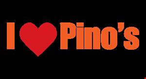 I Love Pino's Pizza logo