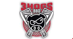 3 Hogs BBQ logo