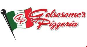 Gelsosomo's Pizzeria & Pub Featuring Smokey Row BBQ logo