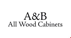 A&B All Wood Cabinets logo