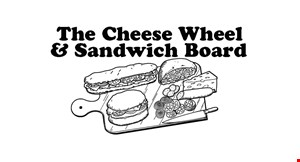 Product image for The Cheese Wheel and Sandwich Board $5Off any purchase of $25 or more