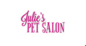 Julie's Pet Salon logo