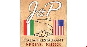 J&P Italian Restaurant Spring Ridge logo