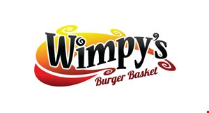 Product image for Wimpy's Burger Basket $2 off 10 piece wings.