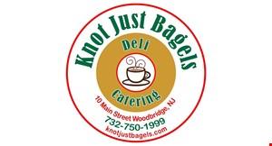 Knot Just Bagels logo