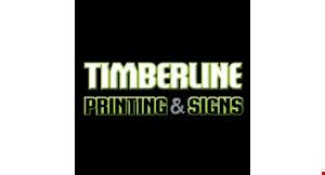 Timberline Printing & Signs logo