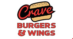 Crave Burgers and Wings logo