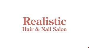 Realistic Hair & Nail Salon logo