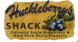 Huckleberry's Shack Country Style Breakfast & New York Style Pizza logo