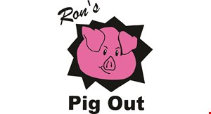 Ron's Pig Out logo