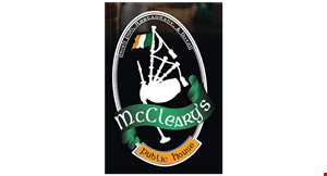 Product image for Mccleary's Public House $5 Off any purchase of $25 or more.