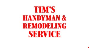 Tim's  Handyman  Remodeling Services logo