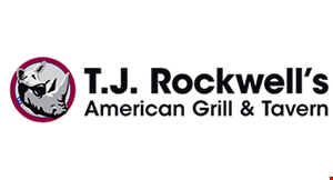 Product image for T.J. Rockwell's American Grill & Tavern 10% Off any purchase (excludes alcohol).