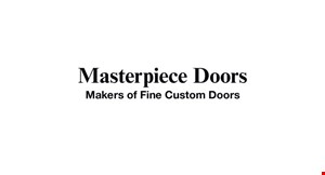 Product image for Masterpiece Doors $200 off professional installation on orders placed before 5/29/20