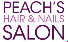 Peach's Hair & Nails Salon logo