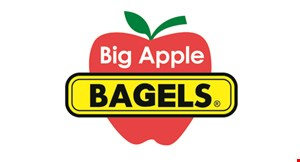 Product image for Big Apple Bagels Free breakfast sandwich when you buy a regular-priced breakfast sandwich