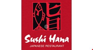 Product image for Sushi Hana Japanese Restaurant $10 off any purchase of $60 or more