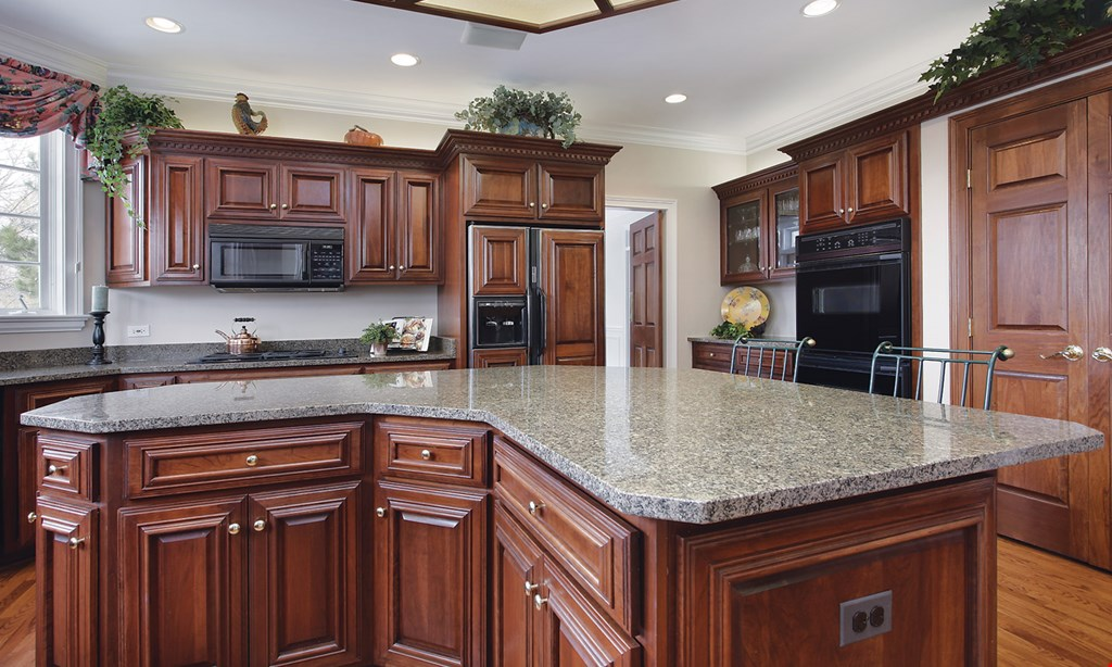 Product image for Top Tier Granite UP TO 35 SQ. FT. $1,995. Package Includes: • Free Installation • Free Template • Free Sink Cut Out • Free Single Bowl Sink • Free Eased Edge • Free 1st Sealer Application.