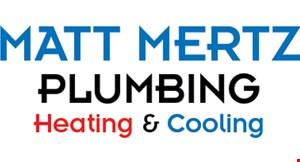 MATT MERTZ PLUMBING, HEATING & COOLING logo