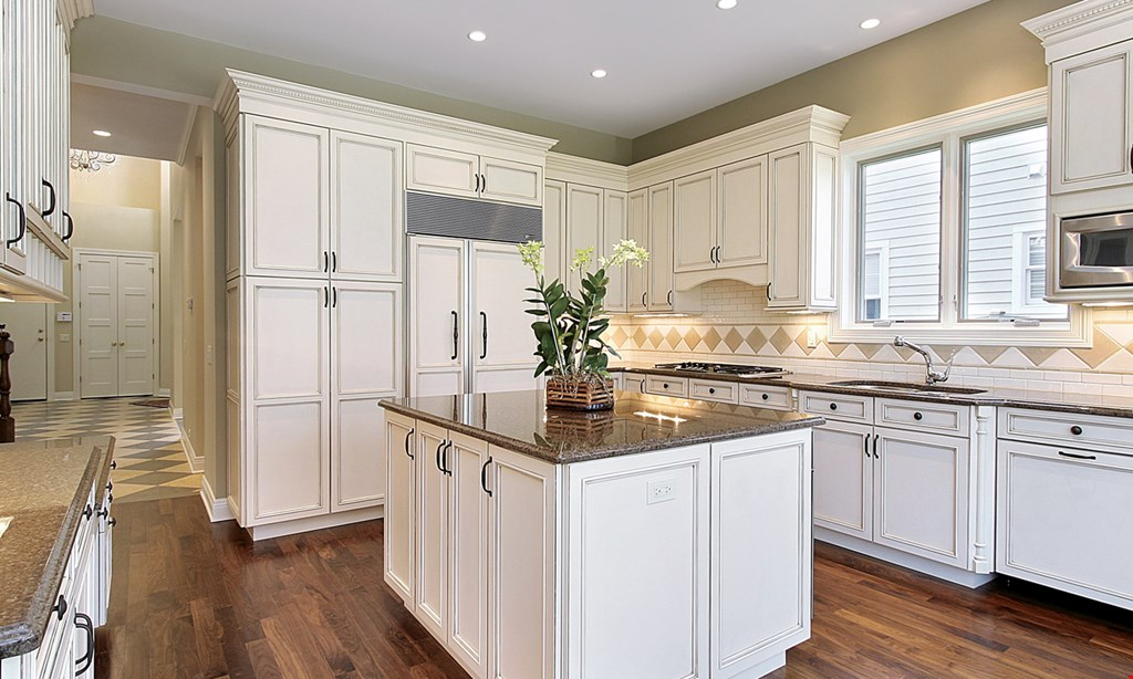 Product image for American Kitchen Refacing 25% off Full Reface & Countertop Install.