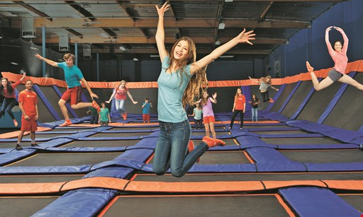 Product image for Sky Zone Indoor Trampoline Park $5 off any glow zone session