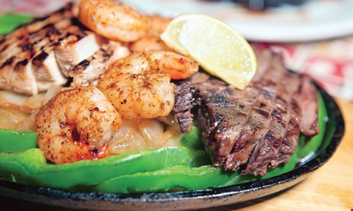 Product image for Plaza Mexico Restaurant 50% OFF entree. Buy one entree at regular price, get second entree of equal or lesser value 50% off