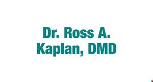 Product image for Dr. Ross A. Kaplan, DMD $59*Complete Exam, 4 Bitewing X-rays & Cleaning