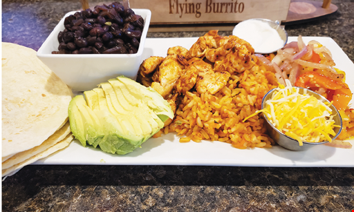 Product image for The Original Flying Burrito $5 Off any purchase of $25 or more