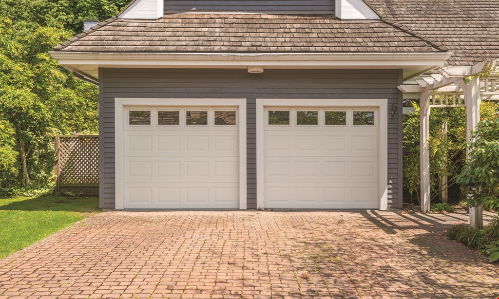 Product image for ON TRACK GARAGE DOORS $400 Installed 1/2 HP Chain Drive 8365-267 2 Remotes & Keypad