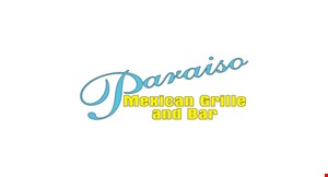 Product image for Paraiso Mexican Grille and Bar $5 off any bill of $30 or more. Dine in only.