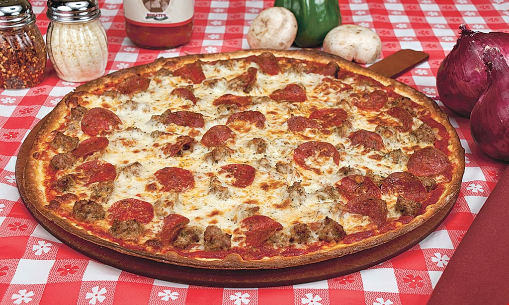 Product image for Rosati'S Pizza  $170 FREE DELIVERY & UTENSILSBUDGET BUSTER Serves 25-30• 4 lbs. Italian Beef w/Bread and Sweet & Hot Peppers• 32 Pieces Fried Chicken• Full Tray of Mostaccioli with Sauce• Garlic Bread • Full Tray of SaladSubstitute Baked Mostaccioli $10, Fettuccine Alfredo $20, Baked Lasagna $30.