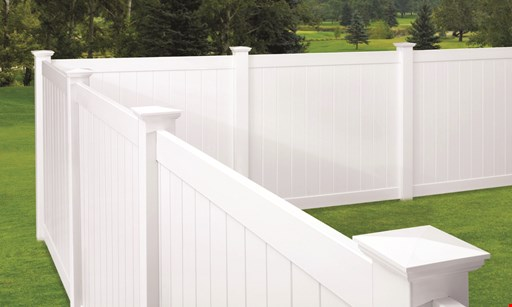 Product image for FenceMax up to 20% off vinyl, aluminum, wood and chain-link fence. Select styles only. Min. purchase required. 5% - 20 % off based on volume of sale.