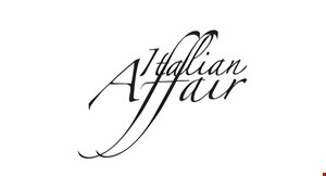 Product image for Italian Affair $10 off any check of $50 or more