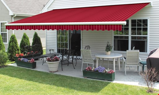 Product image for Champs Awning FREE motor with purchase of deck or patio awning.
