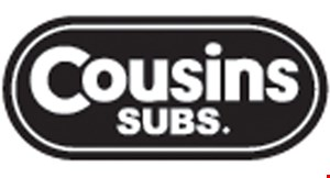 "Product image for Cousins Submarines Free Sub Buy a 71/2"" sub & two large drinks, get a 71/2"" sub FREE"