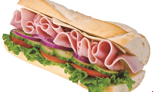 """Product image for Cousins Submarines Free Sub Buy a 71/2"""" sub & two large drinks, get a 71/2"""" sub FREE"""