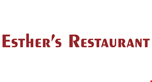 Product image for Esther's Restaurant $2 Off any purchase of $10 or more