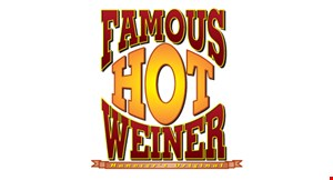 Product image for Famous Hot Weiner 50¢ off soup & sandwich choice of hot weiner or hamburger & bowl of soup.
