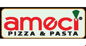 Product image for Ameci  Pizza & Pasta DINE IN SPECIAL $19.99 + tax 1 LARGE CHEESE PIZZA + 1 SPAGHETTI MARINARA & 1 DINNER SALAD