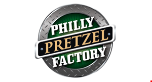 Product image for PHILLY PRETZEL FACTORY $10 OFF cheesesteak and rivet or mini-dog and rivet trays.