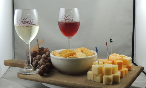 Product image for Meier's Wine Cellars $1 off a glass of wine.