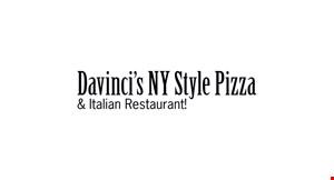 Davinci's NY Style Pizza & Italian Restaurant logo
