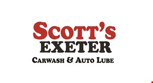Product image for SCOTT'S EXETER CAR WASH $2 OFF PROPANE REFILL OR ANY FULL PRICE CAR WASH.