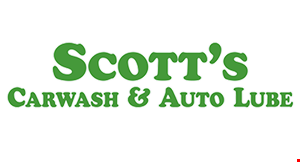 Product image for SCOTT'S EXETER CAR WASH $5 off SCOTT'S EXPRESS 15-MIN. OIL CHANGE. PLUS FREE SCOTT'S GOLD CAR WASH.