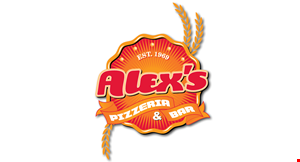 Product image for Alex's Pizzeria & Bar $15.99 Large Round Specialty Pizza with 1 Free Pitcher Of Soda