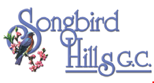 Product image for Songbird Hills Golf Club $2 off any food & beverage purchase of $15 or more OR $5 off any food & beverage purchase of $25 or more.